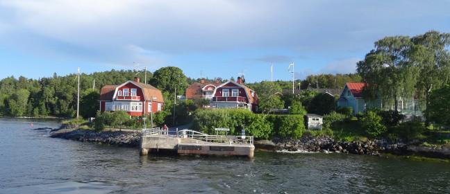 Anlegestelle in den Schären vor Stockholm