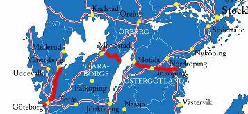 Götakanal in Schweden - Verlauf