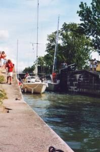 Göta-Kanal: Schleuse von Sjötorp