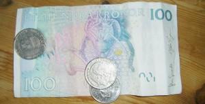 Schwedenkronen: Münze und Schein