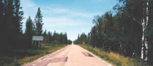 Straße Richtung Navardalen in Härjedalen