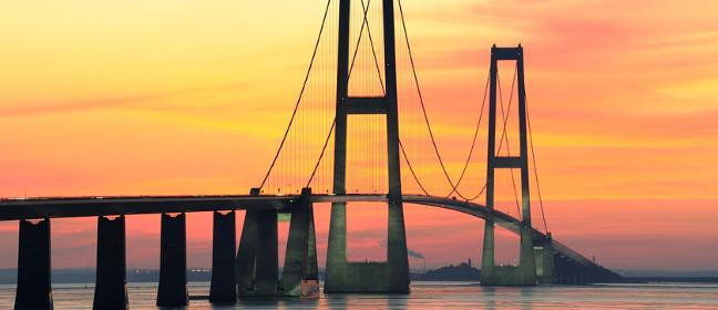 Storebaeltbrücke über den Großen Belt