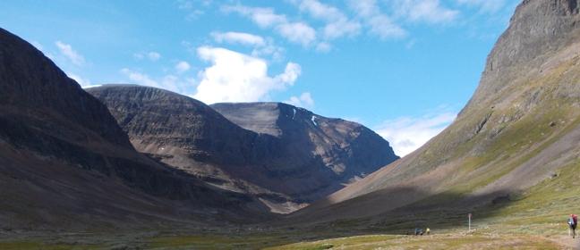 Trekking in Schweden: Wanderpfad in Lappland