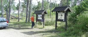 Wandern in Schweden: Wanderparkplatz