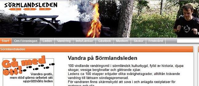 Website zum Sörmlandsleden
