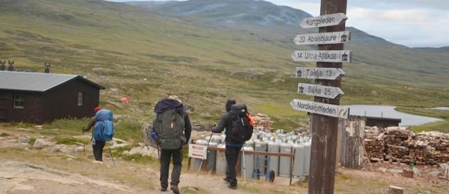 Wegweiser am Nordkalottleden