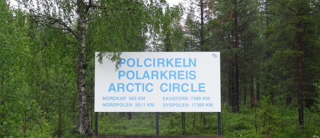 Nördlicher Polarkreis bei Jokkmokk