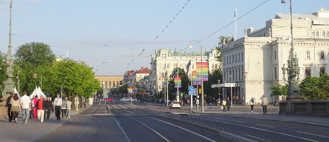 Prachtstraße in Göteburg: Avenyn