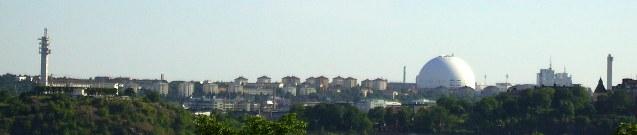Stockholm: Skyline mit Globen