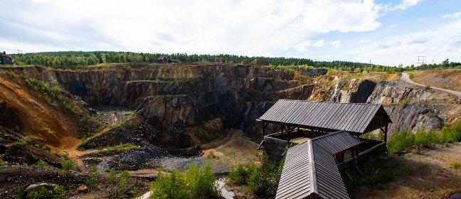 Schwedenrot: Erzgrube Falun
