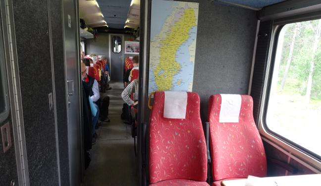 Inlandsbanan Bild: Fahrgastraum