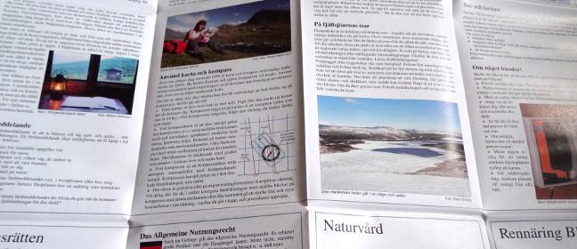 Fjällkartan mit Informationen für Wanderer & Trekker