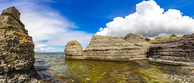 Insel Öland: Küste mit Raukar