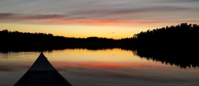 Dalsland: Kanu auf See