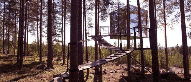Außergewöhnliches Hotel: Treehotel Harads