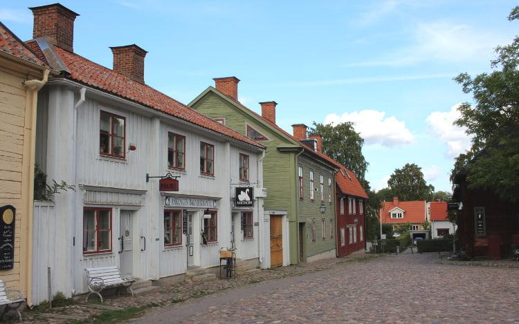 Straße in Gamla Linköping