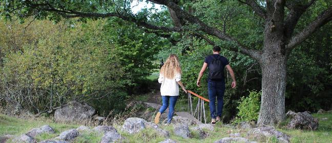 Linköping: Wanderer auf Östgötaleden