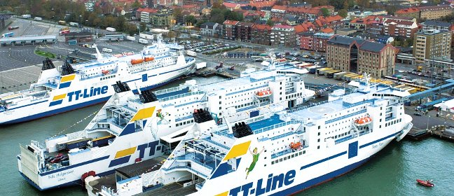 TT-Fähren in Trelleborg