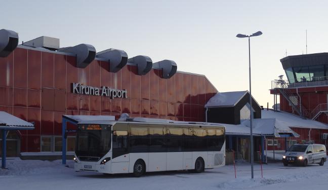 Kiruna Bild: Flughafen