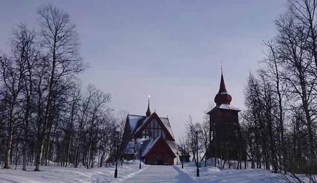 Kiruna Bild: Kirche