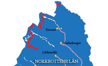 Nordkalottleden: Karte