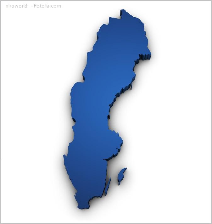 Schweden Urlaub: Schwedenkarte